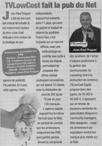 Le magazine ENTREPRENDRE consacre un bel article à l'agence TVLowCost