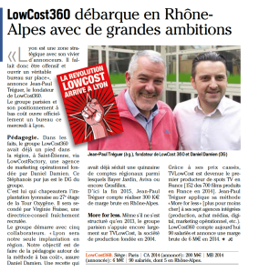 LowCost360 Lyon dans Intermedia