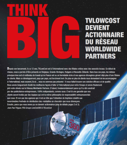 TVLowCost actionnaire de Worldwide Partners