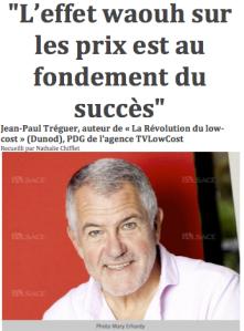 """Jean-Paul TREGUER, PDG de TVLowCost et auteur de """"La Révolution du Low Cost"""""""